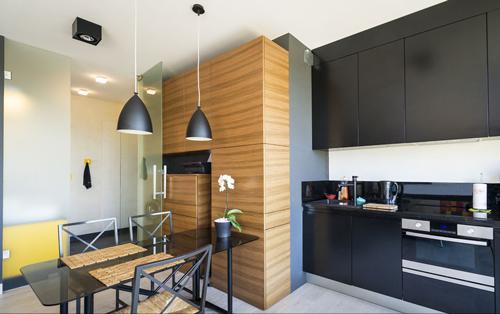 开放式厨房照明效果图