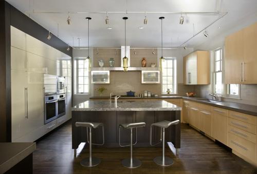 开放式厨房餐台效果图