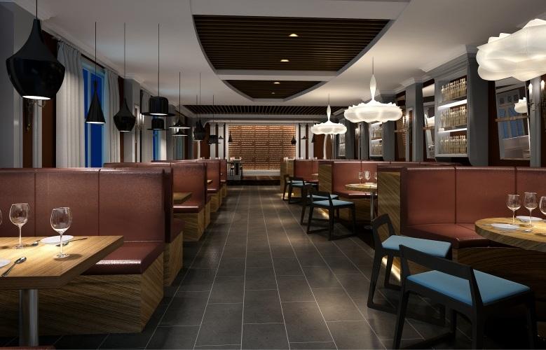 杭州欧美风格咖啡厅装修设计