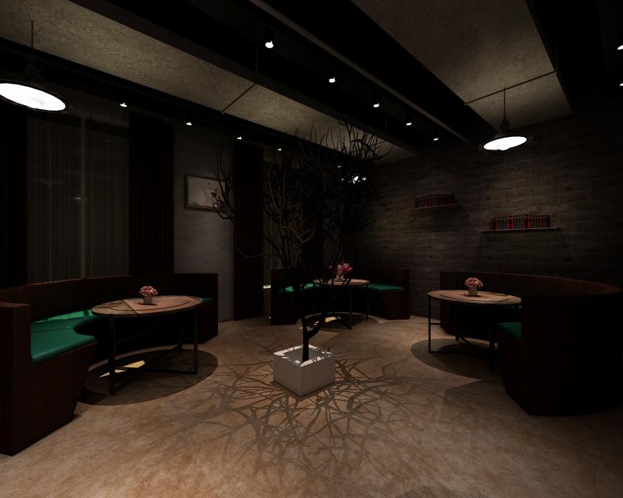 木石源咖啡厅装修设计案例
