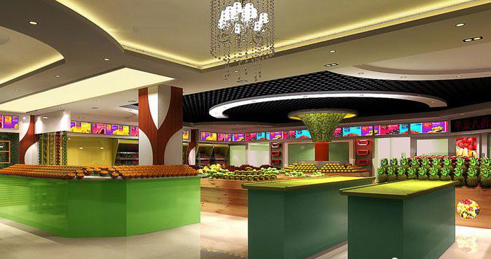 果味人生水果店装修设计案例