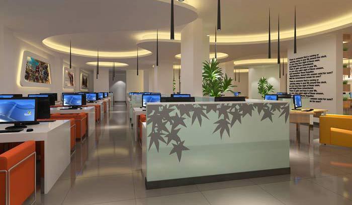 青岛网咖会所装修设计案例