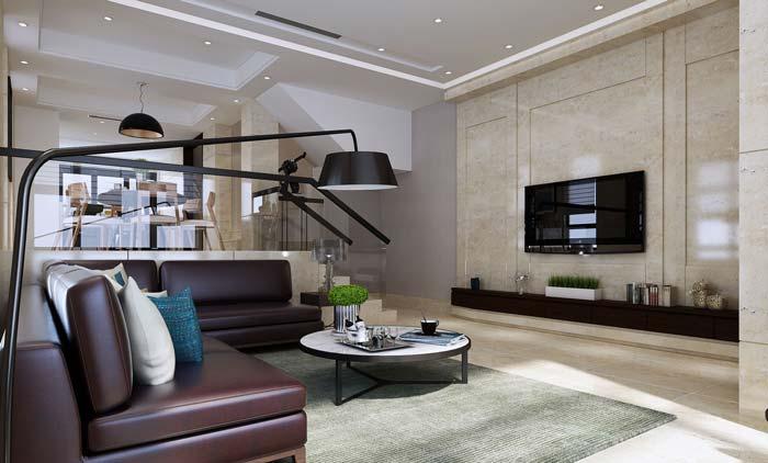 青岛现代简约风格别墅装修设计