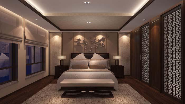 鲁信长春新中式别墅装修设计案例