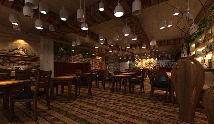 休闲创意酒吧装修设计案例