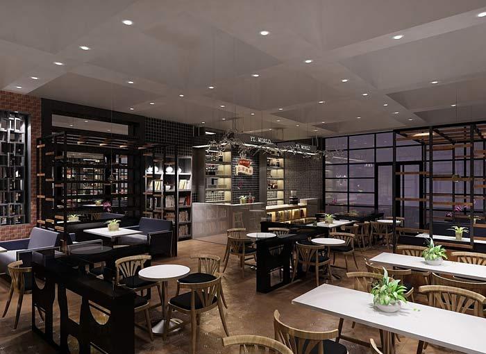 书苑咖啡馆装修设计案例