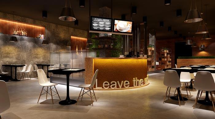 杭州创意工业风咖啡厅装修设计案例