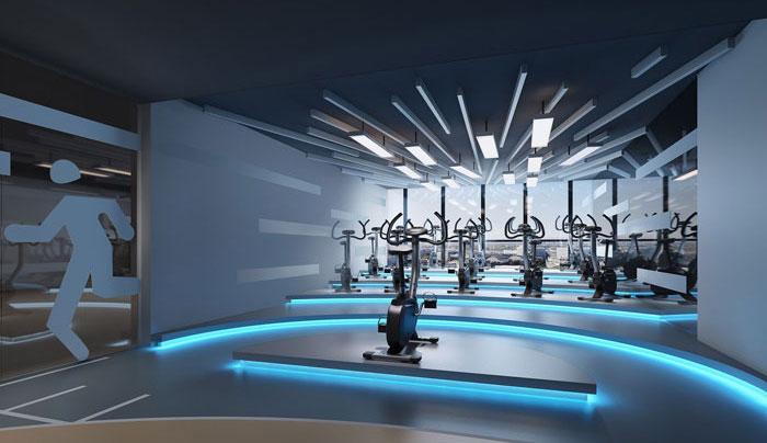 1000平方健身会所装修设计案例