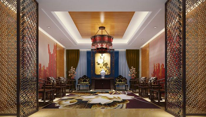 中式风格私人会所装修设计案例