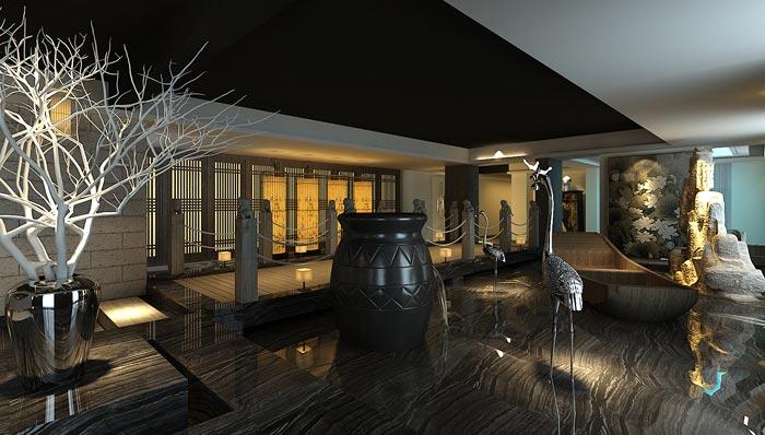 现代中式风格中餐厅装修设计案例