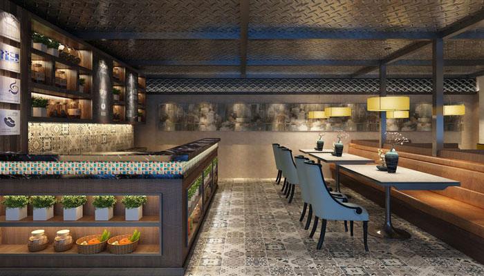 600平方中餐厅装修设计案例