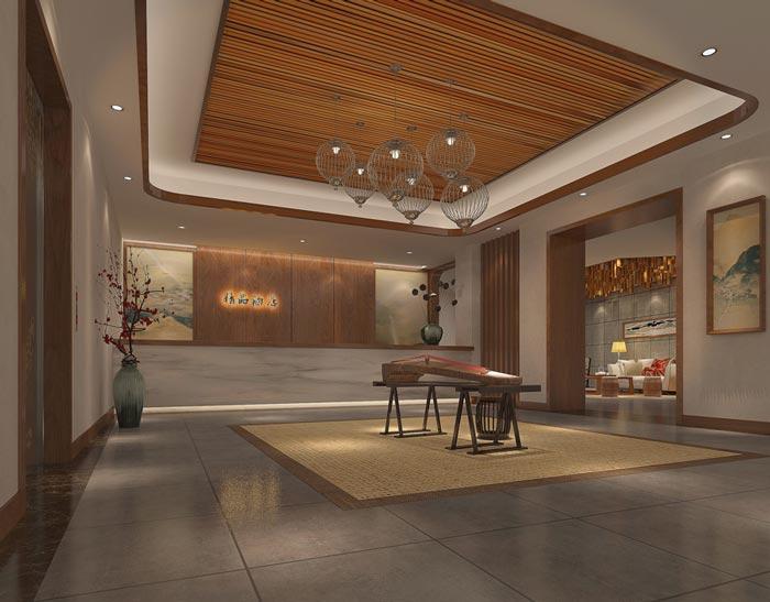 中式风格精品酒店装修设计案例