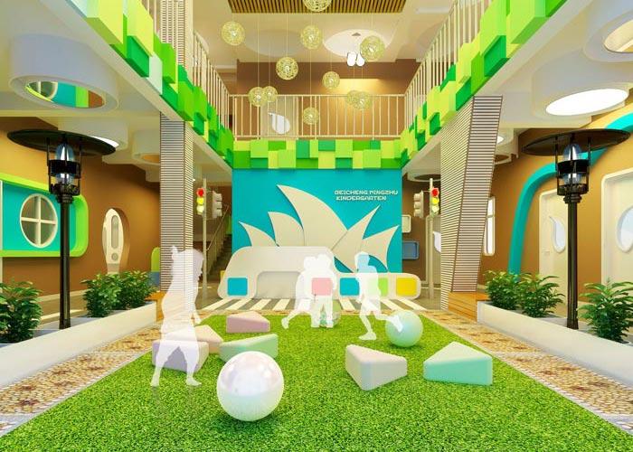 青岛高端幼儿园装修设计案例