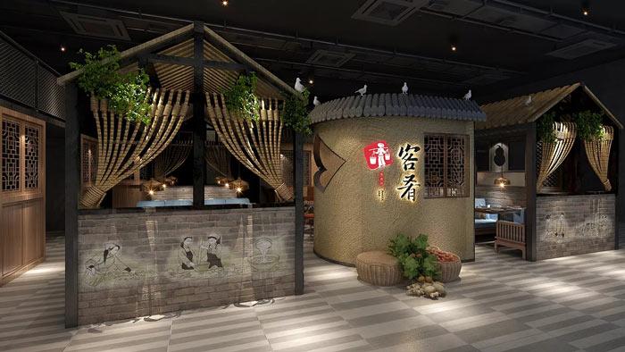 500平方特色餐厅装修设计效果图