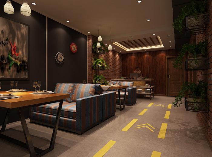 香辣虾特色餐厅装修设计效果图