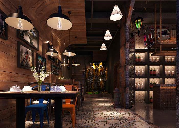 变形金刚主题餐厅装修设计效果图