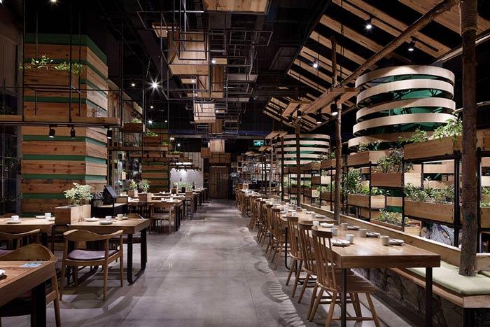 特色生态餐厅装修设计效果图