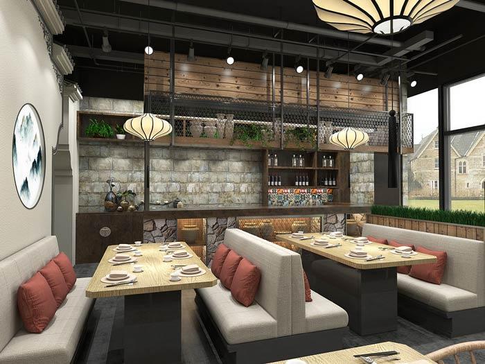小型中式餐厅装修设计效果图
