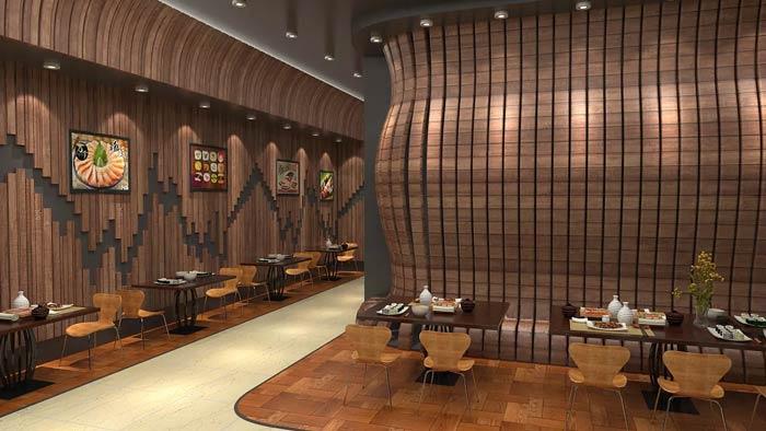 日式快餐厅装修设计效果图