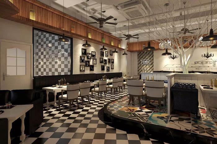 休闲西餐厅装修设计效果图