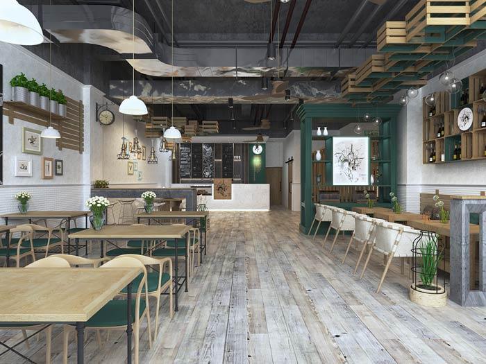 街角的咖啡店装修设计效果图