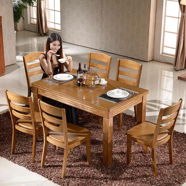 六人方形餐桌尺寸效果图