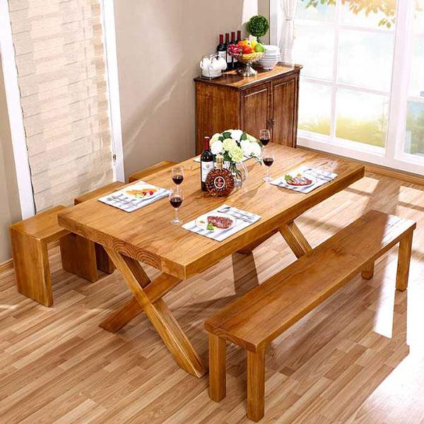 六人长方形餐桌尺寸效果图