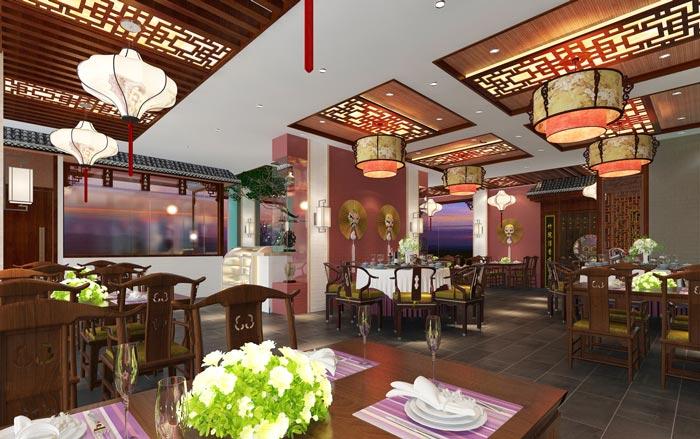 新中式川菜馆装修设计效果图
