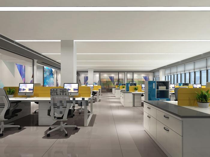 灯具工厂厂房办公室装修设计案例效果图
