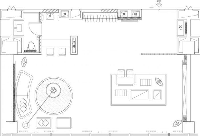 80平方办公室装修设计平面图