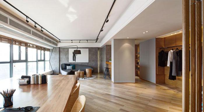 80平方办公室办公区装修设计效果图