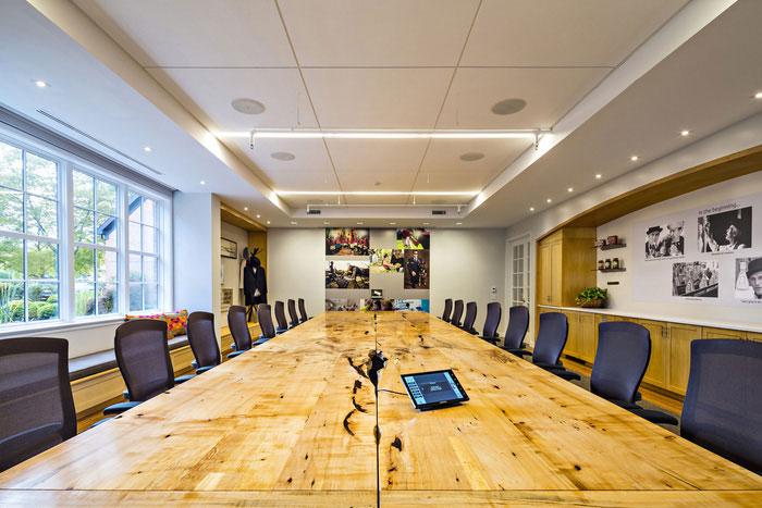 食品贸易公司办公室会议室装修设计实景图