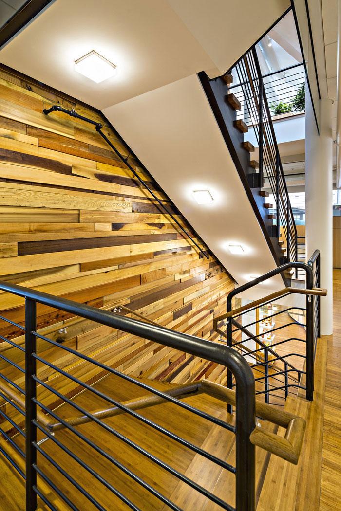 食品贸易公司办公室楼梯装修设计实景图