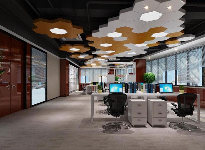 蜂巢办公室办公区装修设计效果图