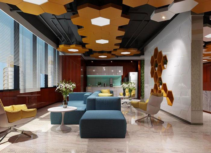 蜂巢办公室茶水间装修设计效果图