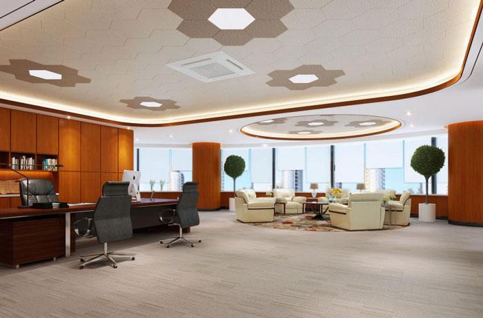 蜂巢总经理办公室装修设计效果图