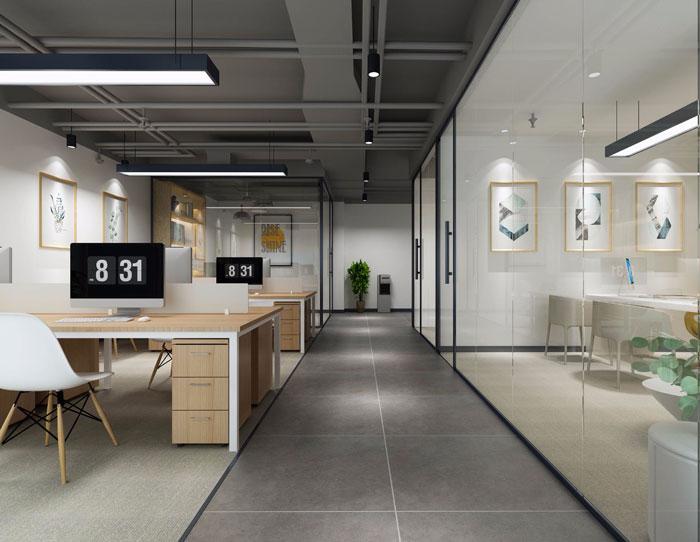 北欧风格办公室办公区装修设计效果图