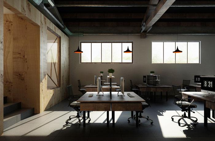小厂房办公室进门区装修设计效果图