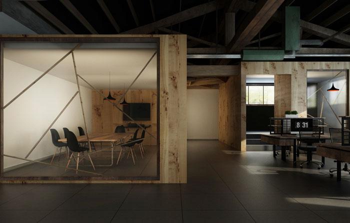 小厂房办公室会议室装修设计效果图