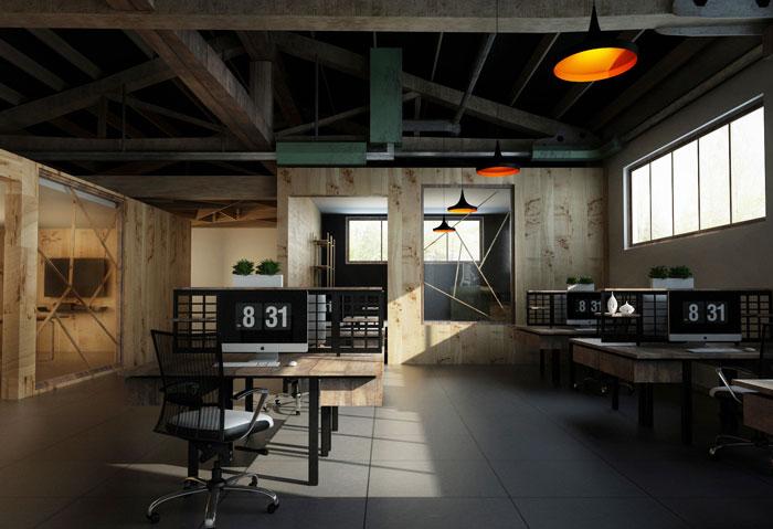 小厂房办公室办公区装修设计效果图