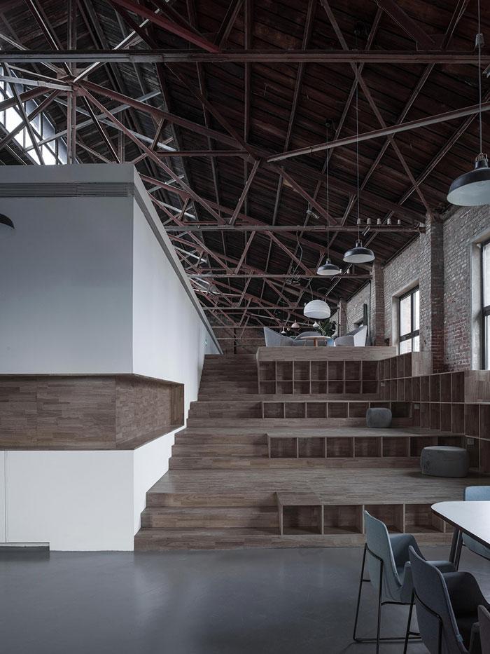 厂房改造办公室休息区装修设计效果图
