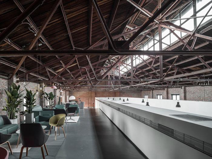 厂房改造办公室洽谈区装修设计效果图