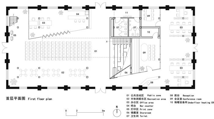 厂房改造办公室首层平面图