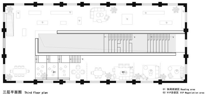 厂房改造办公室三层平面图