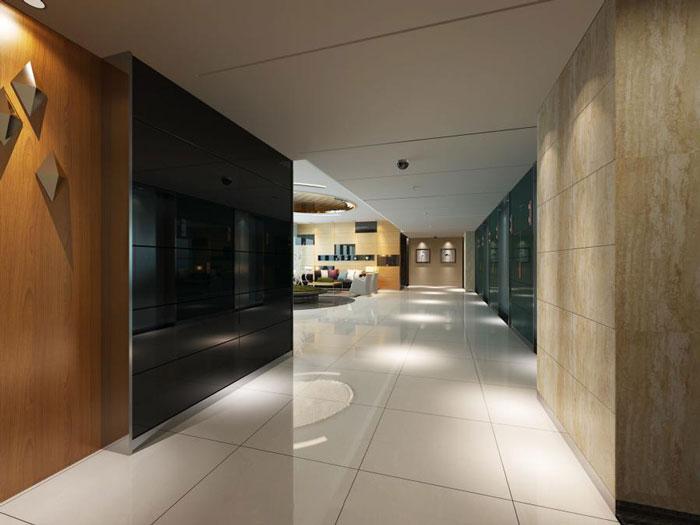 青岛桐庐办公室进门区装修设计效果图