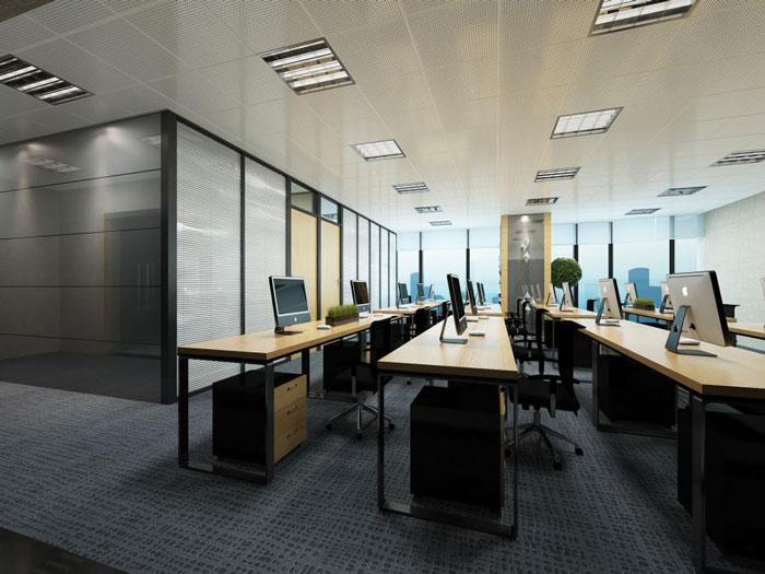 青岛桐庐办公室办公区装修设计效果图