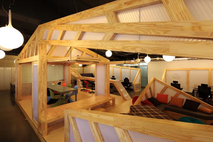 家具厂办公室会议区装修设计方案效果图