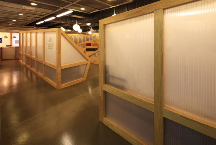 家具厂办公室入口装修设计方案效果图