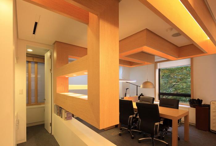 家具厂办公室独立办公区装修设计效果图